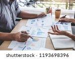 business team colleagues... | Shutterstock . vector #1193698396