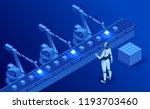 isometric industry 4.0 concept. ... | Shutterstock .eps vector #1193703460