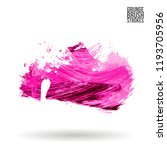 pink brush stroke and texture.... | Shutterstock .eps vector #1193705956