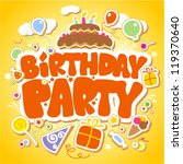 birthday party design template... | Shutterstock .eps vector #119370640