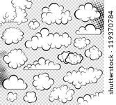 vector clouds collection.... | Shutterstock .eps vector #119370784
