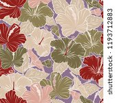 pattern in red and beige colors ... | Shutterstock . vector #1193712883
