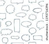 speech bubbles pattern. message ...   Shutterstock .eps vector #1193716396