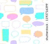 speech bubbles pattern. message ... | Shutterstock .eps vector #1193716399