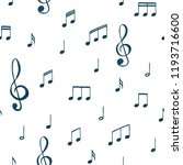 music notes pattern. music... | Shutterstock .eps vector #1193716600