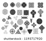 set of ancient pagan... | Shutterstock .eps vector #1193717920