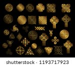 set of ancient pagan... | Shutterstock .eps vector #1193717923