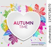 abstract light card autumn time ... | Shutterstock .eps vector #1193718070