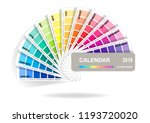 color guide calendar 2019....   Shutterstock .eps vector #1193720020