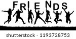 cheerful happy people friends...   Shutterstock .eps vector #1193728753