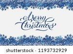 merry christmas blue background ... | Shutterstock .eps vector #1193732929
