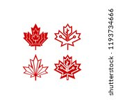 red canada maple leaf icon... | Shutterstock .eps vector #1193734666