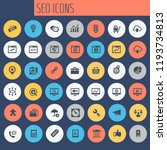 big seo icon set  trendy flat... | Shutterstock .eps vector #1193734813