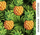 pineapples on the background of ... | Shutterstock .eps vector #1193737000