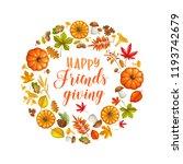happy friendsgiving lettered... | Shutterstock .eps vector #1193742679