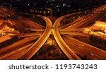aerial drone night high speed... | Shutterstock . vector #1193743243