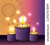 candles lits with flowers... | Shutterstock .eps vector #1193747899