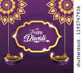 diwali mandalas with vassels... | Shutterstock .eps vector #1193747926