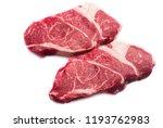two raw beef chuck steaks... | Shutterstock . vector #1193762983