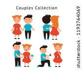 couple in love collection. set... | Shutterstock .eps vector #1193764069