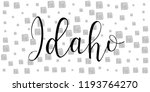 idaho. state of america. text... | Shutterstock .eps vector #1193764270