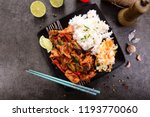 oriental dish   rice with... | Shutterstock . vector #1193770060