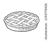 whole homemade apple pie.... | Shutterstock .eps vector #1193770420