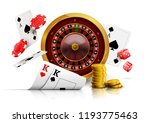 casino roulette with chips  red ... | Shutterstock .eps vector #1193775463