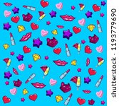 digital pattern   stickers 2 | Shutterstock . vector #1193779690