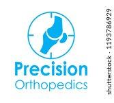 """precision orthopedics"" medical ... | Shutterstock .eps vector #1193786929"