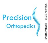 """precision orthopedics"" medical ... | Shutterstock .eps vector #1193786956"
