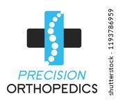 """precision orthopedics"" medical ... | Shutterstock .eps vector #1193786959"