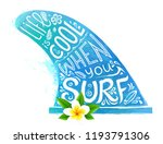 blue watercolor style surfing... | Shutterstock . vector #1193791306