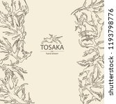 background with tosaka ... | Shutterstock .eps vector #1193798776