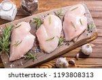 raw chicken breast   fillet  ... | Shutterstock . vector #1193808313
