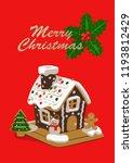 merry christmas gingerbread... | Shutterstock .eps vector #1193812429