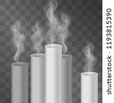 factory pipes with pollution...   Shutterstock .eps vector #1193815390