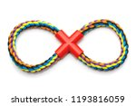 colorful rope dog toy  isolated ... | Shutterstock . vector #1193816059