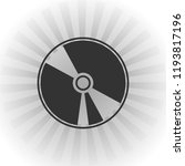 cd icon vector icon. simple... | Shutterstock .eps vector #1193817196