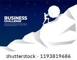silhouette of businessman... | Shutterstock .eps vector #1193819686