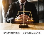justice and law concept.male... | Shutterstock . vector #1193822146
