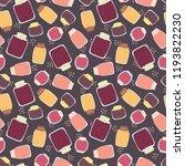 marmalade and jam jars seamless ... | Shutterstock .eps vector #1193822230