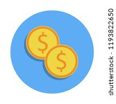 cash coins colored icon in...