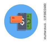 mobile banking colored icon in...