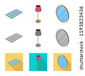 vector illustration of bedroom... | Shutterstock .eps vector #1193823436