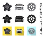 vector design of auto and part... | Shutterstock .eps vector #1193823790