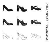 vector design of footwear and... | Shutterstock .eps vector #1193824480