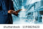 businessman manager using... | Shutterstock . vector #1193825623