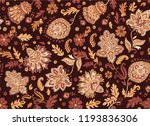 indian rug tribal ornament... | Shutterstock .eps vector #1193836306