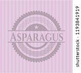 asparagus pink emblem. retro | Shutterstock .eps vector #1193841919